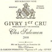 2008 Clos Salomon Givry 1er monopole