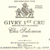 2011 Clos Salomon Givry 1er monopole