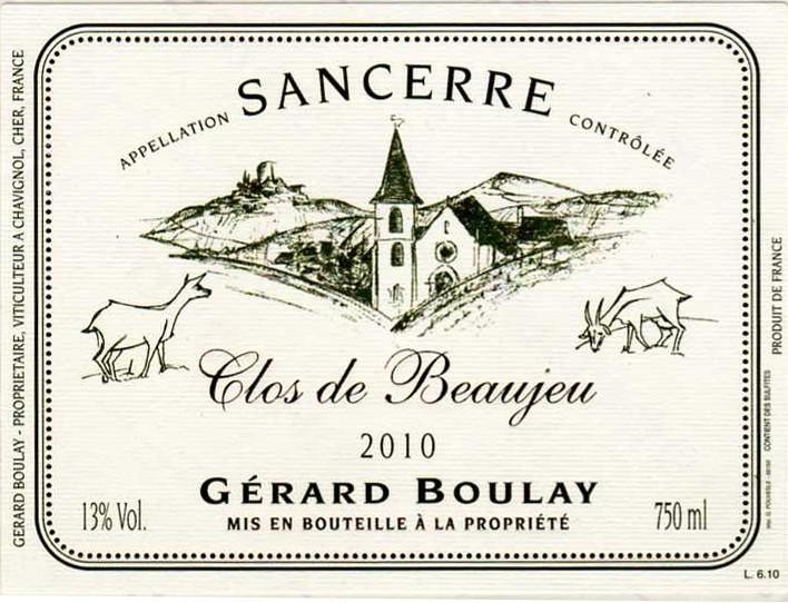 2011 Gerard Boulay Sancerre Clos de Beaujeu