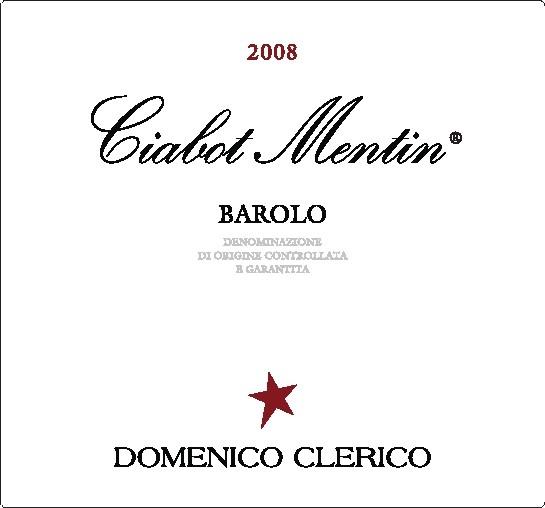 2008 Domenico Clerico Barolo Ciabot Mentin Ginestra
