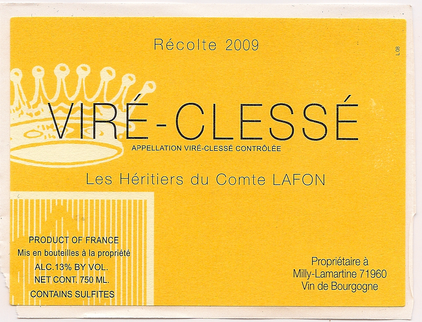 2011 Heritiers du Comte Lafon Vire Clesse