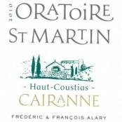 2010 Oratoire St Martin Cairanne Haut Coustias blanc