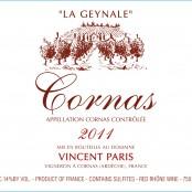 2011 Vincent Paris Cornas la Geynale