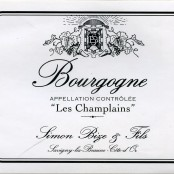2012 Simon Bize Bourgogne blanc les Champlains