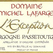 2011 Michel Lafarge Bourgogne Passetoutgrains l'Exception
