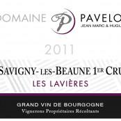 2011 Pavelot Savigny les Beaune 1er Lavieres