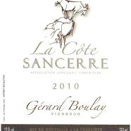 2013 Gerard Boulay Sancerre la Cote