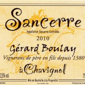 2011 Gerard Boulay Sancerre rouge
