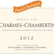 2012 David Duband Charmes Chambertin Grand cru