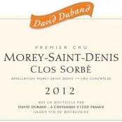 2012 David Duband Morey St Denis 1er Clos Sorbe