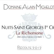 2012 Alain Michelot Nuits St Georges 1er cru Richemone