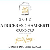 2012 Drouhin Laroze Latricieres Chambertin Grand cru