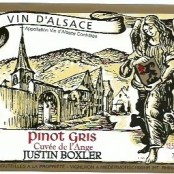 2013 Justin Boxler Pinot Gris Cuvee de l'Ange