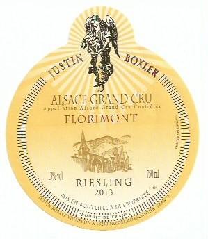 2013 Justin Boxler Riesling Florimont Grand cru