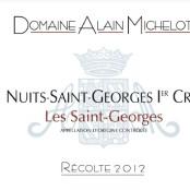 2012 Alain Michelot Nuits St Georges 1er cru les St Georges