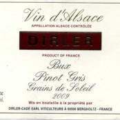 2009 Dirler-Cadé Pinot Gris Lieu dit Bux Grains du Soleil