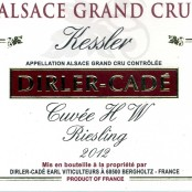 2012 Dirler-Cadé Riesling Kessler Grand cru Heisse Wanne