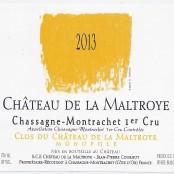 2014 Chateau de la Maltroye Chassagne Montrachet 1er Clos du Chateau blanc