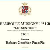 2014 Robert Groffier Chambolle Musigny 1er Sentiers