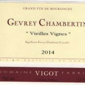 2015 Fabrice Vigot Gevrey Chambertin villages Vieilles Vignes