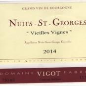 2015 Fabrice Vigot Nuits St Georges villages Vieilles Vignes