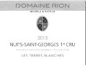 2014 Patrice Rion Nuits St Georges 1er cru Terres Blanches blanc