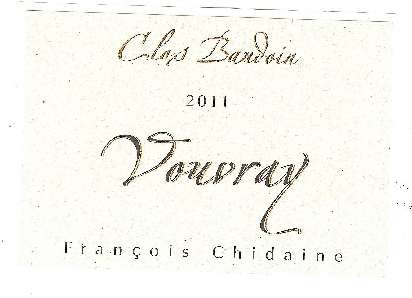 2014 François Chidaine Vouvray Clos Baudoin MAGNUM