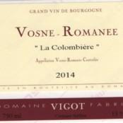 2015 Fabrice Vigot Vosne Romanée villages la Colombière