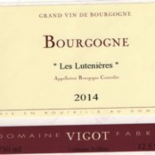 2014 Fabrice Vigot Bourgogne les Lutenières