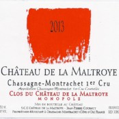 2014 Chateau de la Maltroye Chassagne Montrachet 1er cru Clos du Chateau rouge