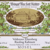 2016 Richter Veldenzer Elisenberg Kabinett AP# 16