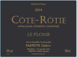 2015 Cedric Parpette Cote Rotie le Plomb