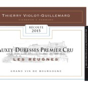 2016 Violot Guillemard Auxey Duresses 1er Reugnes