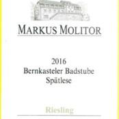 2016 Markus Molitor Bernkasteler Badstube Spatlese Green Capsule