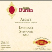 2016 Agathe Bursin Sylvaner Eminence