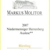 2007 Markus Molitor Niedemenniger Herrenberg Auslese ** Gold Capsule