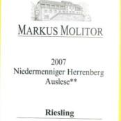 2007 Markus Molitor Niedermenniger Herrenberg Auslese ** White Capsule