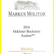 2016 Markus Molitor Ockfener Bockstein Auslese ** Gold Capsule