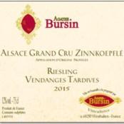 2015 Agathe Bursin Zinnkoepfle Riesling Vendanges Tardives Grand cru