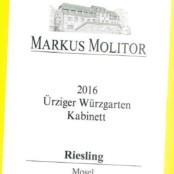 2016 Markus Molitor Urziger Wurzgarten Kabinett White Capsule