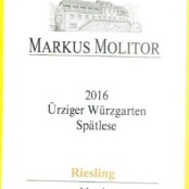 2016 Markus Molitor Urziger Wurzgarten Spatlese Gold Capsule