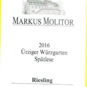 2016 Markus Molitor Urziger Wurzgarten Spatlese White Capsule