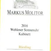 2016 Markus Molitor Wehlener Sonnenuhr Kabinett Gold Capsule