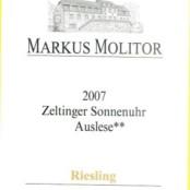 2007 Markus Molitor Zeltinger Sonnenuhr Auslese ** Gold Capsule