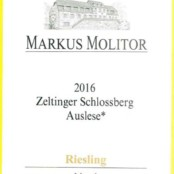 2016 Markus Molitor Zeltinger Schlossberg Auslese * Gold Capsule