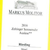 2016 Markus Molitor Zeltinger Sonnenuhr Auslese ** White Capsule
