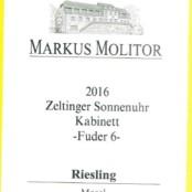 2016 Markus Molitor Zeltinger Sonnenuhr Kabinett Fuder 6 White Capsule