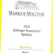 2016 Markus Molitor Zeltinger Sonnenuhr Spatlese Gold Capsule