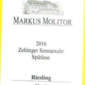 2016 Markus Molitor Zeltinger Sonnenuhr Spatlese White Capsule