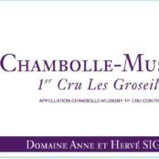 2014 Sigaut Chambolle Musigny 1er Groseilles